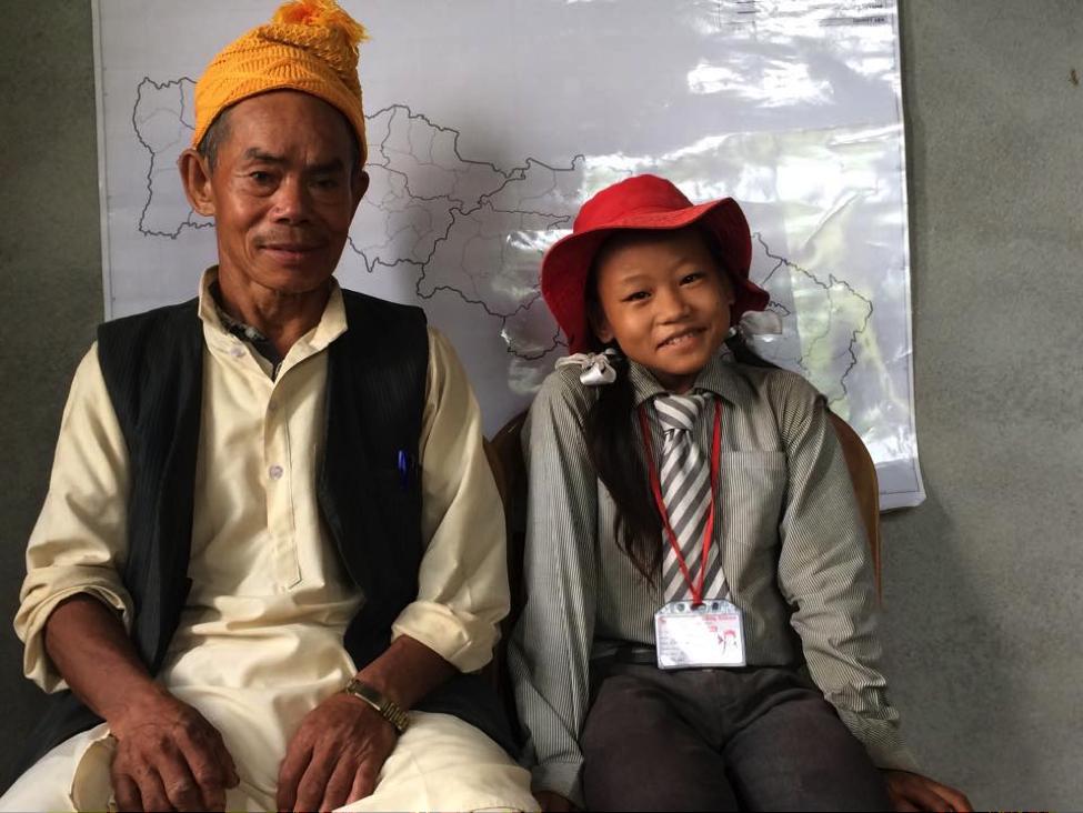 Prabha Rai with granpa