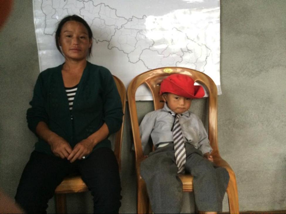 Sagar Rai with mum